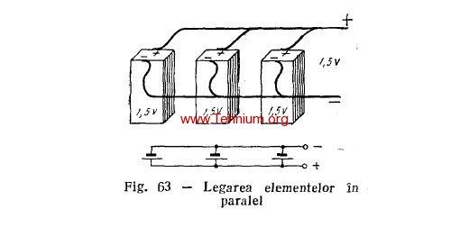 32. Legarea elementelor in paralel (baterie) 1