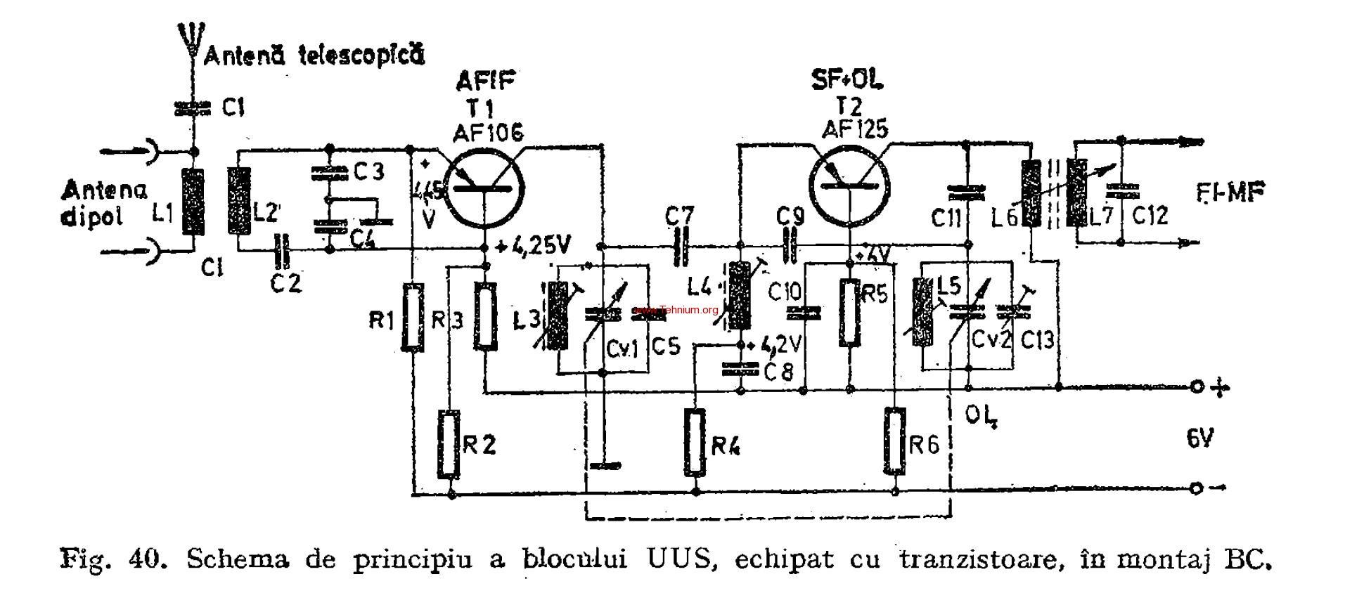 Blocul UUS, echipat eu tranzistoare 1