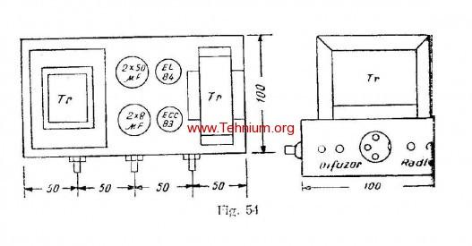 ta - Un amplificator auxiliar pentru reproducerea stereofonica - Figura 54